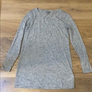 Cos Long sleeve gray shirt size small